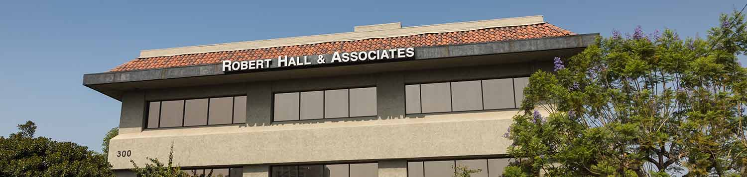 exterior shot of Robert Hall Associates tax firm in Glendale CA